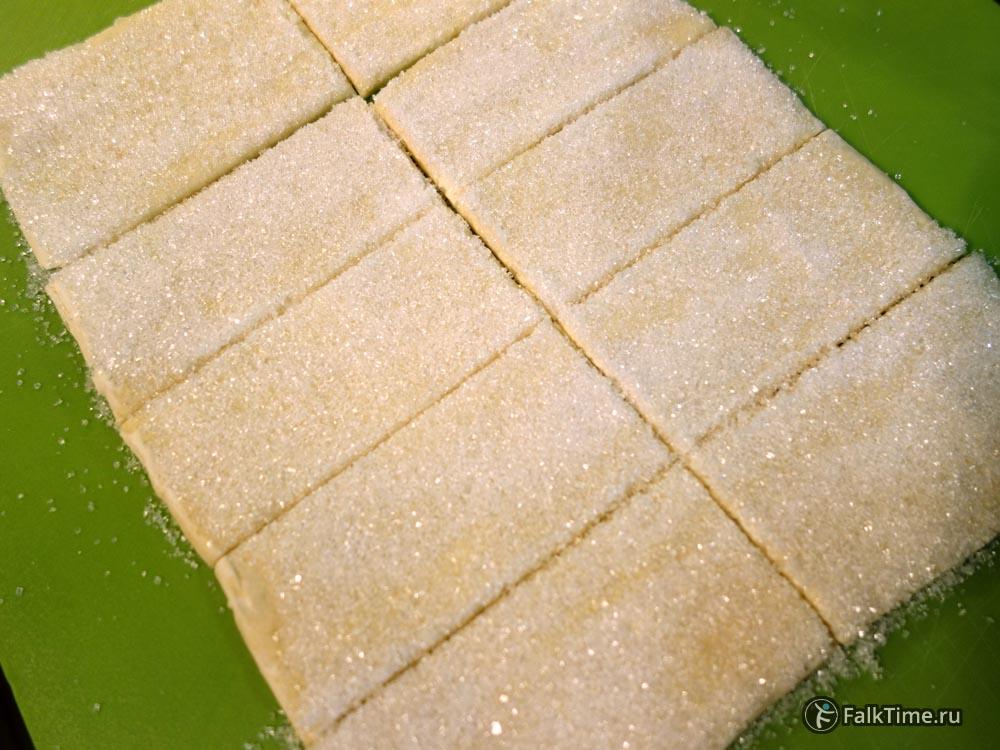 Тесто с сахаром для язычков