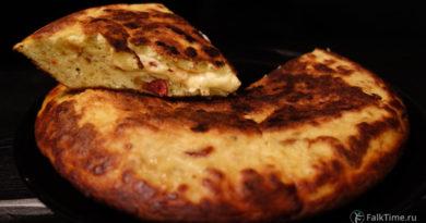 Тортилья с сыром и мини-салями