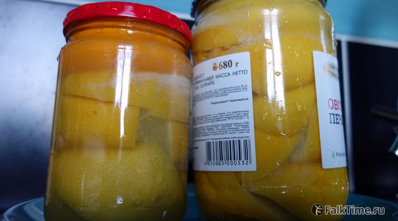 Солёные лимоны в банке