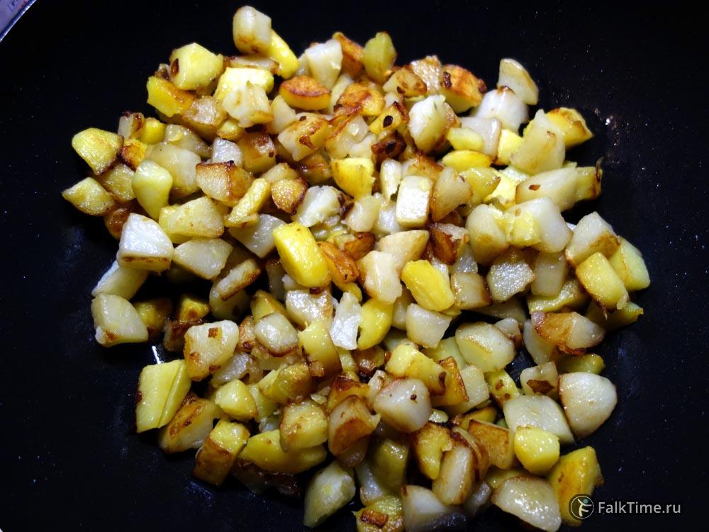 Обжаренные овощи для тортильи