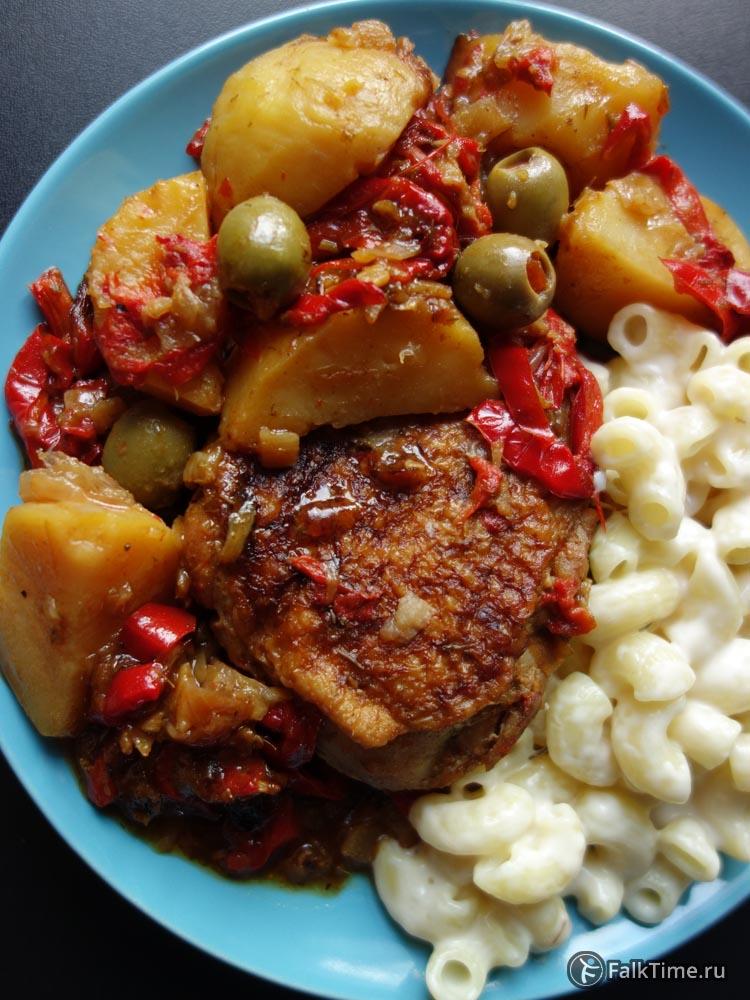 Курица по-мароккански с гарниром
