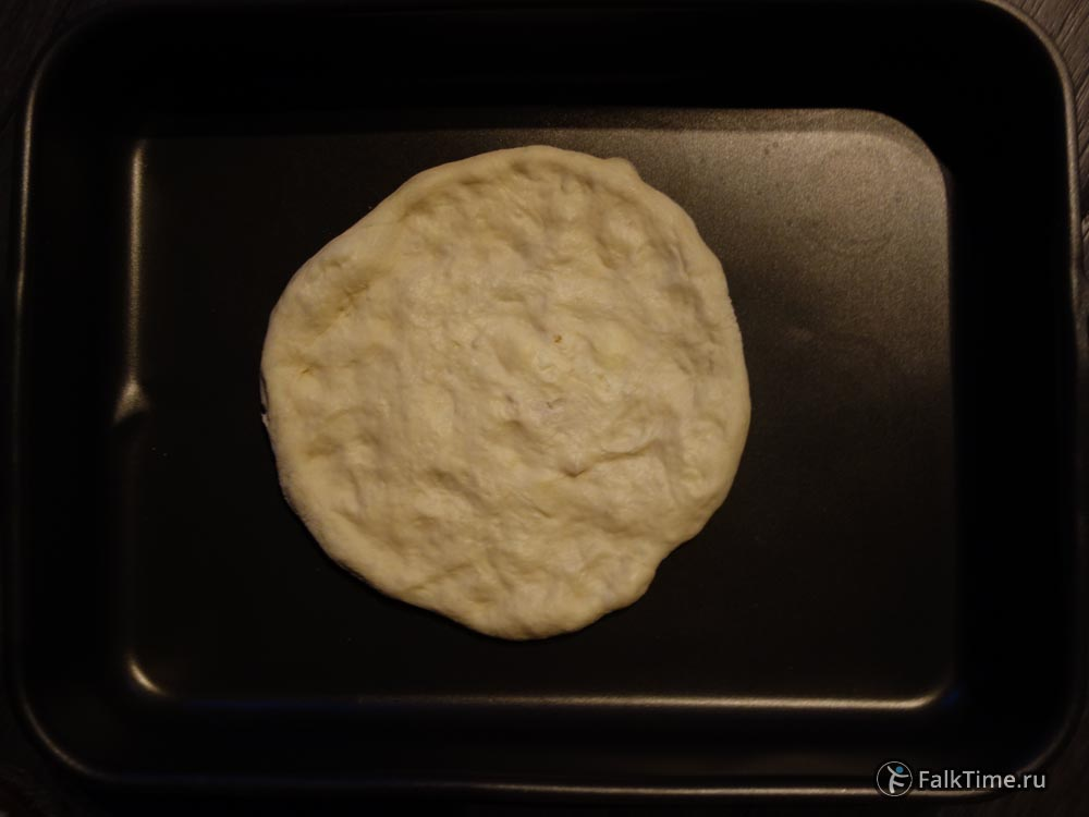 Сделайте хачапури плоским